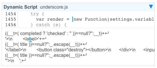 Underscore creating a new function based on the template