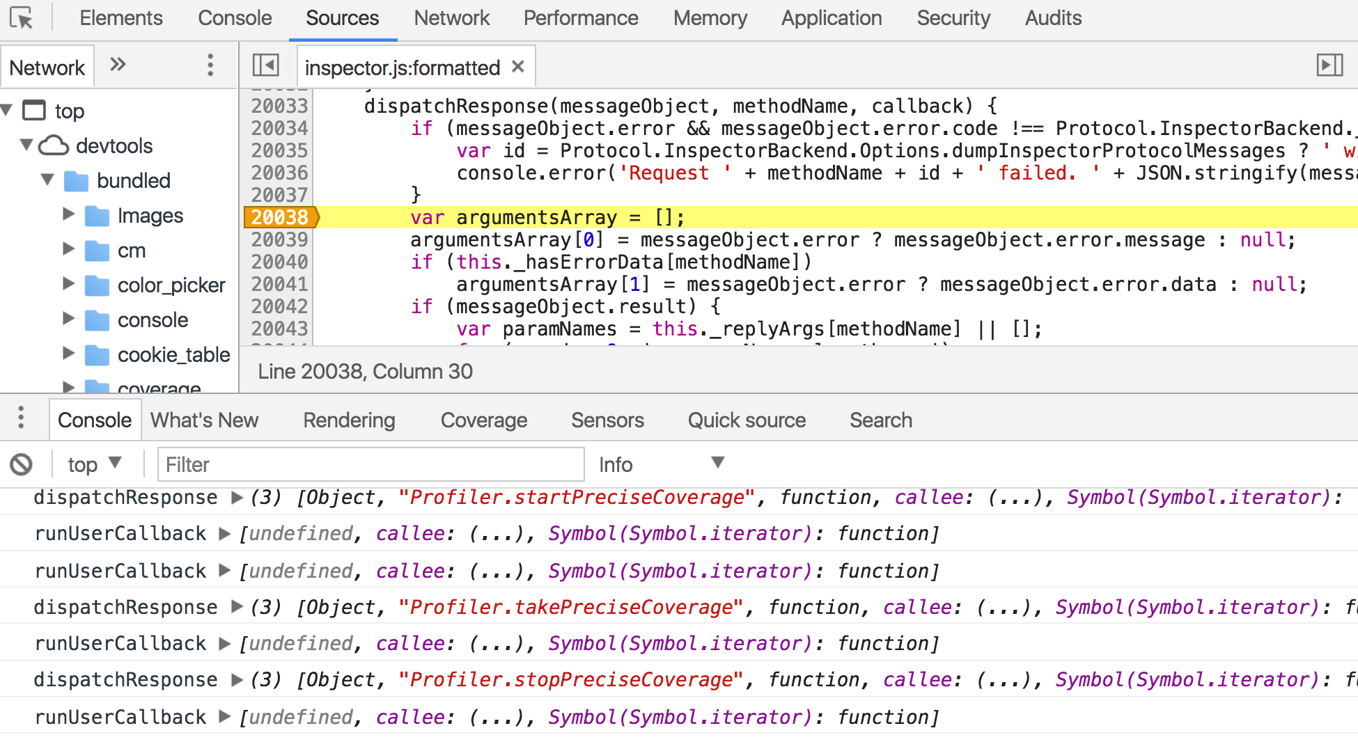 A quick look at how Chrome's JavaScript code coverage feature works