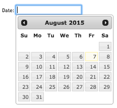 jQuery UI datepicker documentation