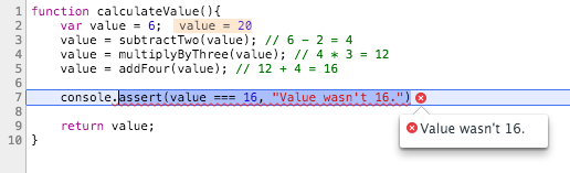 Assert fails because the value is 20 insted of 16
