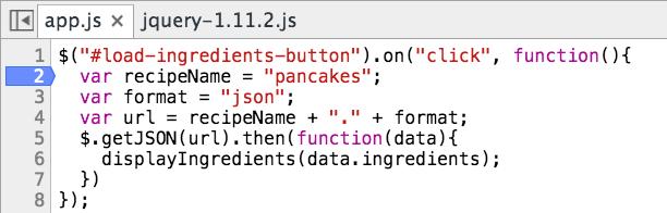Stepping through JavaScript code in Chrome