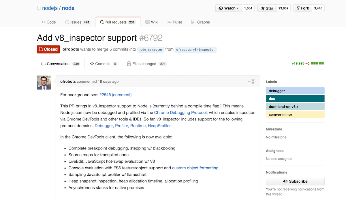 How is node --inspect different from using Node Inspector?